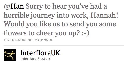 Interflora give away free flowers