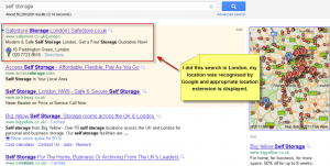 AdWords Location Extensions - SERP